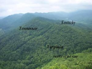 View of 3 states from lookout point Cumberland Gap National Park