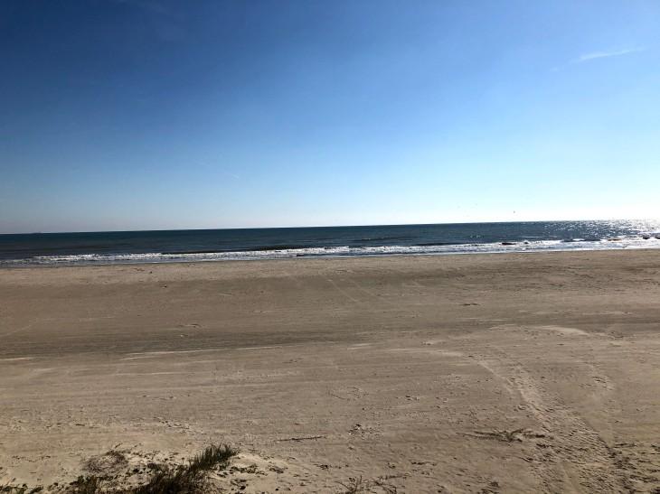 Beach along Seawall Galveston, Texas